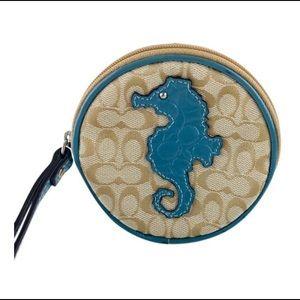 Coach Seahorse Circular Wristlet! 💥
